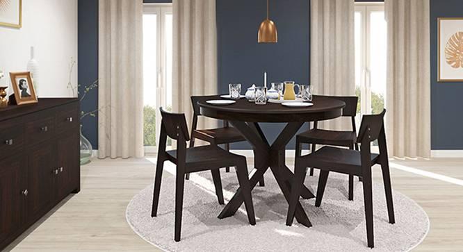 Liana - Gordon 4 Seater Round Dining Table Set (Mahogany Finish) by Urban Ladder - Design 1 Full View - 115047