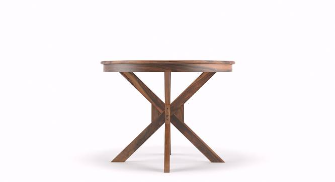 Liana 4 Seater Round Dining Table (Teak Finish) by Urban Ladder - Design 1 Side View - 115069