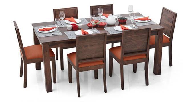 Arabia XL - Oribi 6 Seater Dining Set (Teak Finish, Burnt Orange) by Urban Ladder