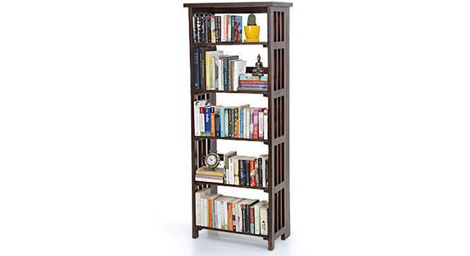 Rhodes Folding Book Shelf (Mahogany Finish, Tall Configuration, 60 Book Book Capacity) by Urban Ladder - Half View Design 1 - 115413