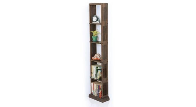 Babylon Floor/Wall Display Unit (25-book capacity) (Walnut Finish) by Urban Ladder - Half View Design 1 - 115434