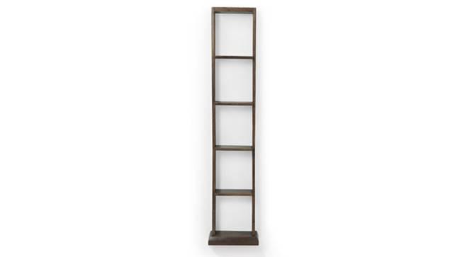 Babylon Floor/Wall Display Unit (25-book capacity) (Walnut Finish) by Urban Ladder - Design 1 Semi Side View - 115439