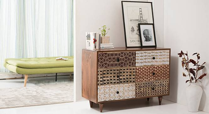 Emaada Chest Of Six Drawers (Teak Finish) by Urban Ladder - Full View Design 1 - 115527