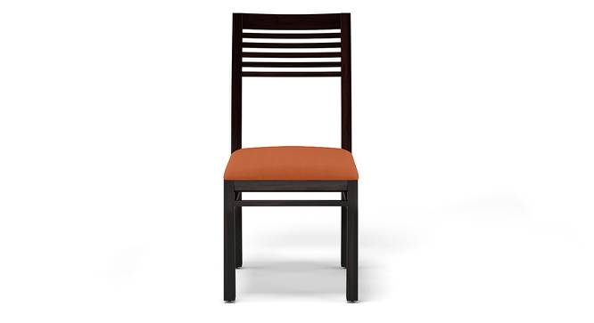 Zella Dining Chairs - Set of 2 (Mahogany Finish, Burnt Orange) by Urban Ladder - Design 1 Front View - 115693