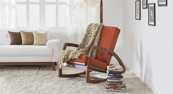 Dylan Rocking Chair (Teak Finish, Amber) by Urban Ladder - Half View Design 1 - 115711