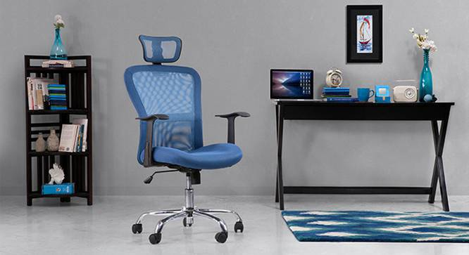 Venturi Study Chair-3 Axis Adjustable (Aqua) by Urban Ladder - Design 1 Full View - 115770