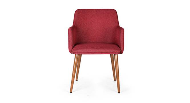 Murray Lounge Chair (Red) by Urban Ladder - Front View Design 1 - 115909