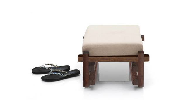 Perch Foot Stool (Teak Finish) by Urban Ladder - Semi Side View Design 1 - 115987