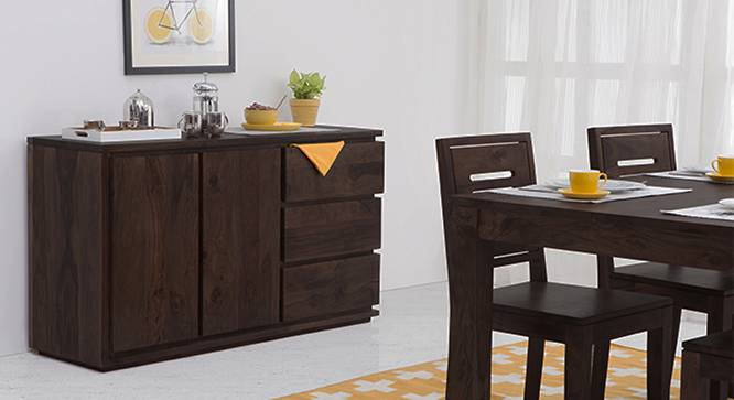 Vector Wide XL Sideboard (Mahogany Finish) by Urban Ladder - Full View Design 1 - 116249