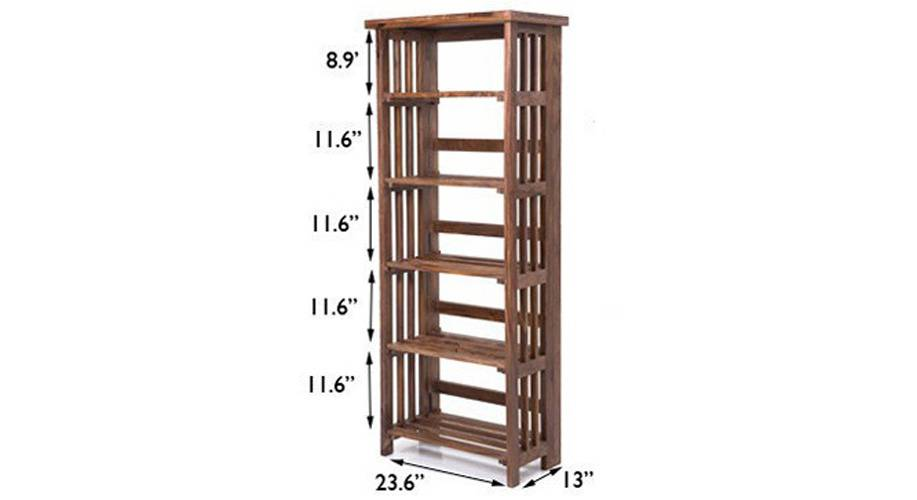 Rhodes folding book shelf teak finish 09 img 9999 184 ed 1
