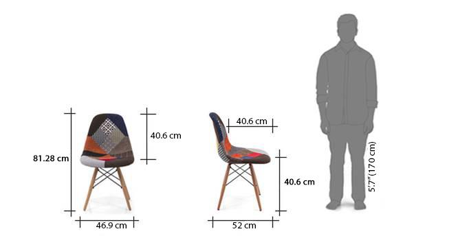 Eames dsw side chair replica patchwork dim1