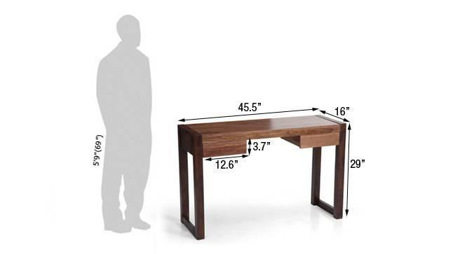 Austen compact desk two tone finish dim153