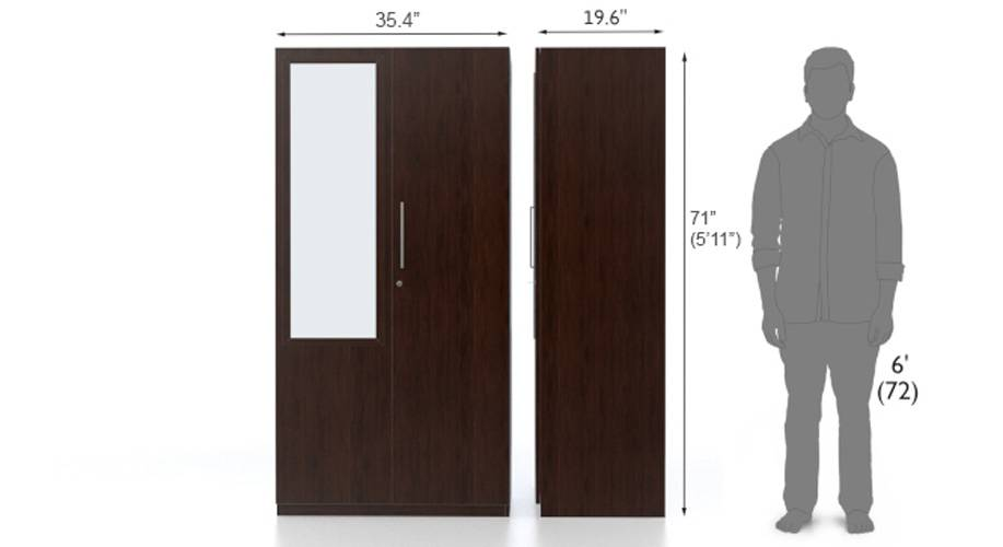 Domenico 2 door wardrobe with mirror do 08 9