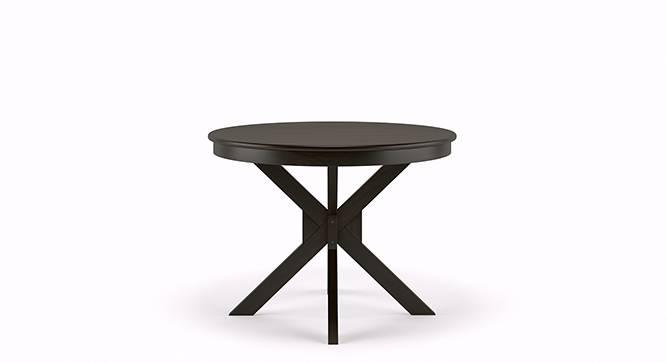 Liana - Oribi 4 Seater Round Dining Table Set (Mahogany Finish, Burnt Orange) by Urban Ladder - Front View Design 2 - 116758