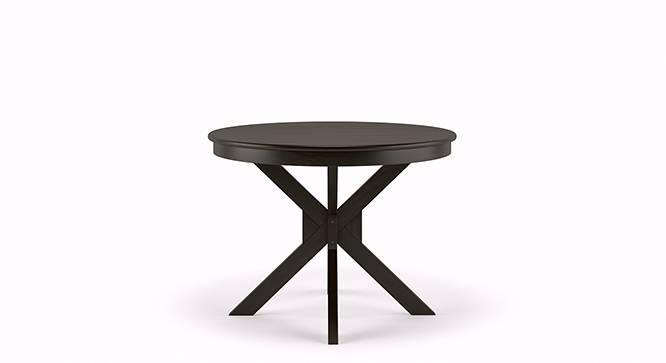 Liana - Oribi 4 Seater Round Dining Table Set (Mahogany Finish, Avocado Green) by Urban Ladder - Front View Design 2 - 116767