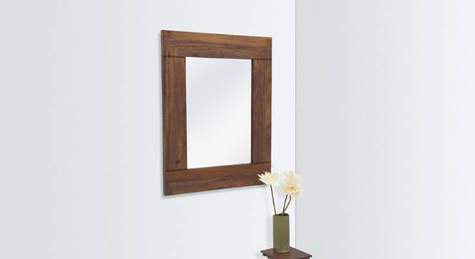 Venus Wall Mirror (Teak Finish, Square Mirror Shape) by Urban Ladder