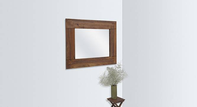 Venus Wall Mirror (Teak Finish) by Urban Ladder - Full View Design 1 - 116909