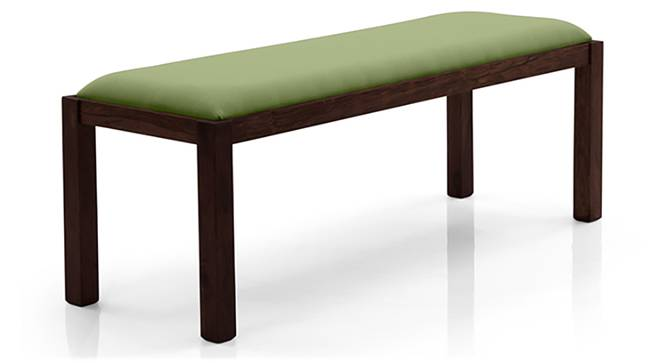 Oribi Upholstered Dining Bench (Mahogany Finish, Avocado Green) by Urban Ladder