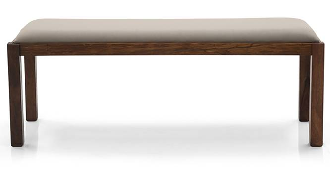 Oribi Upholstered Dining Bench (Teak Finish, Wheat Brown) by Urban Ladder