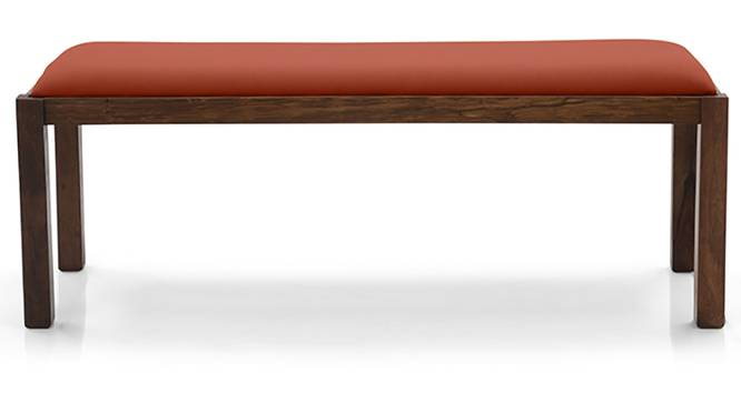 Oribi Upholstered Dining Bench (Teak Finish, Burnt Orange) by Urban Ladder