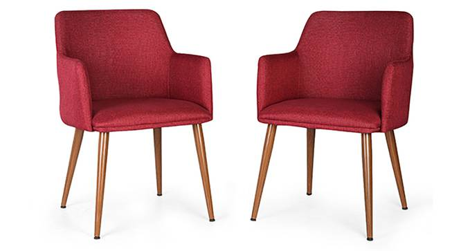 Murray Lounge Chair - Set of 2 (Red) by Urban Ladder - Front View Design 1 - 117863