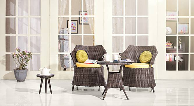 Calabah Patio Armchair - Set of 2 (Brown) by Urban Ladder - Front View Design 1 - 118106