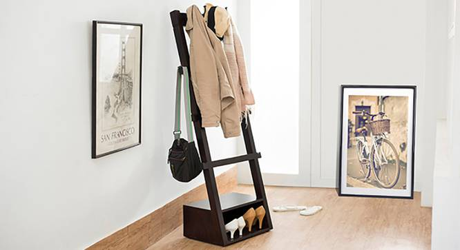 Alfred Coat Rack (Mahogany Finish) by Urban Ladder - Full View Design 1 - 118852