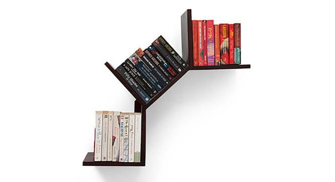 Tolem Wall Shelf (Mahogany Finish) by Urban Ladder - Design 1 Half View - 118992