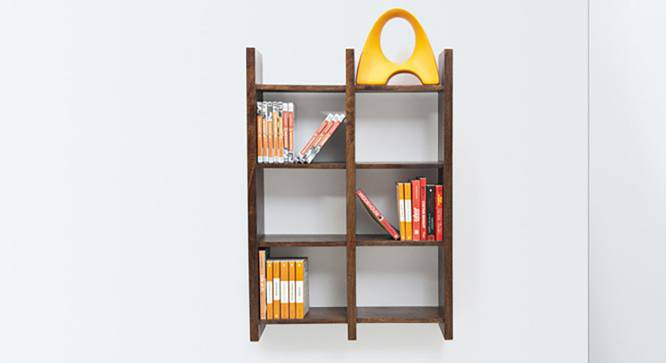 Tic-Tac Wall Rack (Walnut Finish) by Urban Ladder - Half View Design 1 - 118997