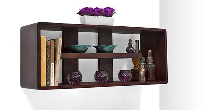 Monza Wall Shelf (Mahogany Finish) by Urban Ladder - Side View Design 1 - 119002