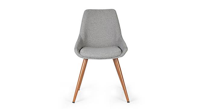 Rickman Lounge Chair (Grey) by Urban Ladder - Front View Design 1 - 119640