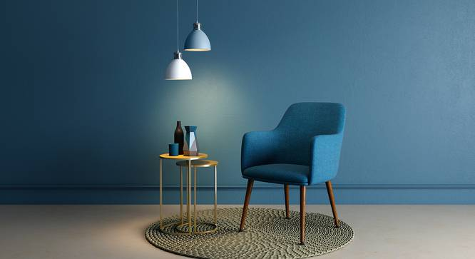 Murray Lounge Chair (Teal) by Urban Ladder - Full View Design 1 - 119669