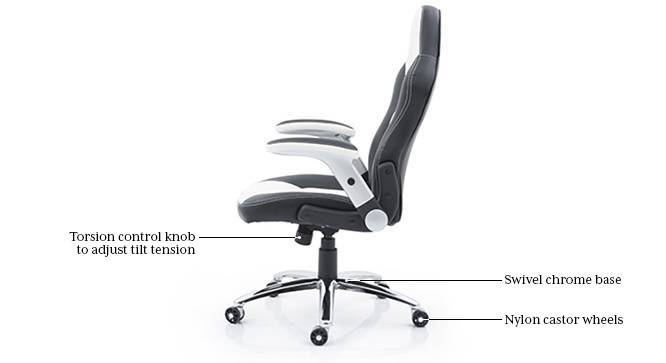 Mika Study Chair (White) by Urban Ladder - Side View Design 1 - 119714