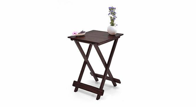 Latt Folding Table/Stool Tall (Mahogany Finish) by Urban Ladder - Half View Design 1 - 119791