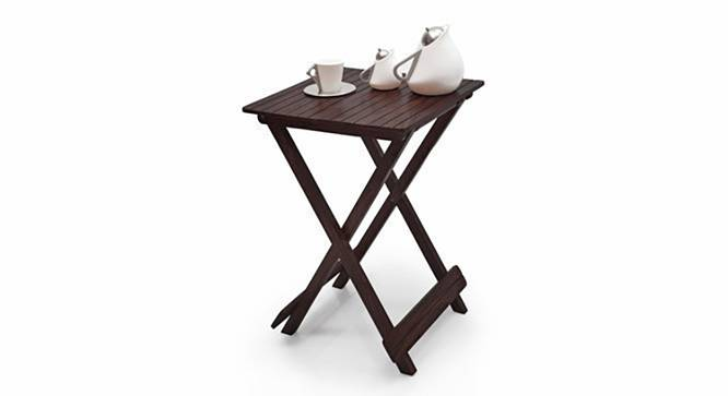 Latt Folding Table/Stool Tall (Mahogany Finish) by Urban Ladder - Design 1 Semi Side View - 119792