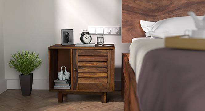 Terence Bedside Table (Teak Finish) by Urban Ladder