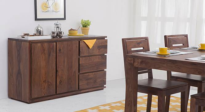 Vector Wide XL Sideboard (Teak Finish) by Urban Ladder - Full View Design 1 - 120241
