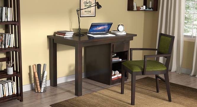 Bradbury Desk (Mahogany Finish, Compact Size) by Urban Ladder