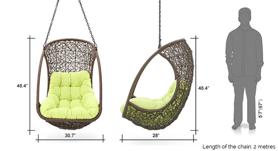 Calabah swing chair with long chain 12 13