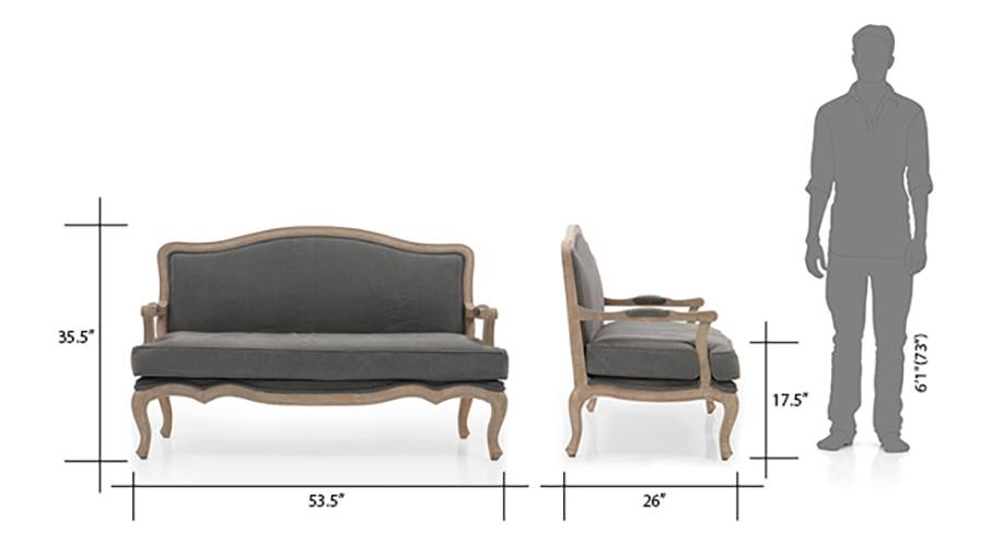 Lyon 2 seater sofa grey 08 img 2679 img 2750 dm