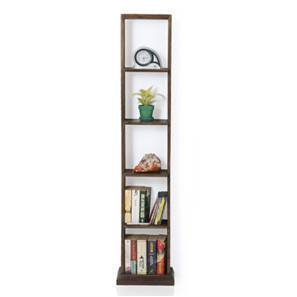Babylon Floor/Wall Display Unit (25-book capacity) (Walnut Finish) by Urban Ladder - - 1212