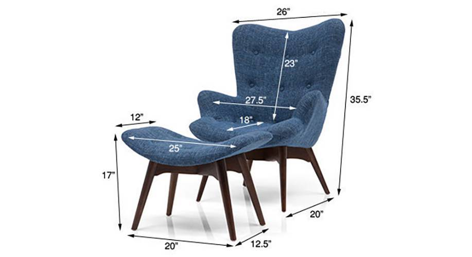 Featherstone contour chair ottoman replica blue 07 1h3t4869 dm