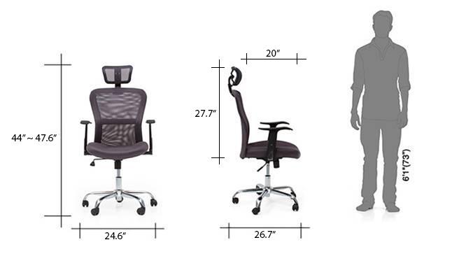 Venturi study chair grey new dim