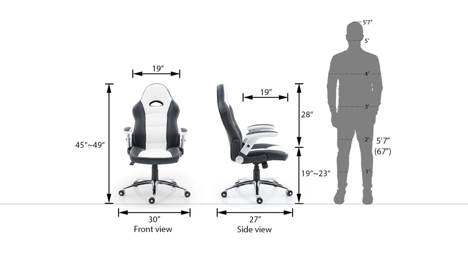 Mika white study chair