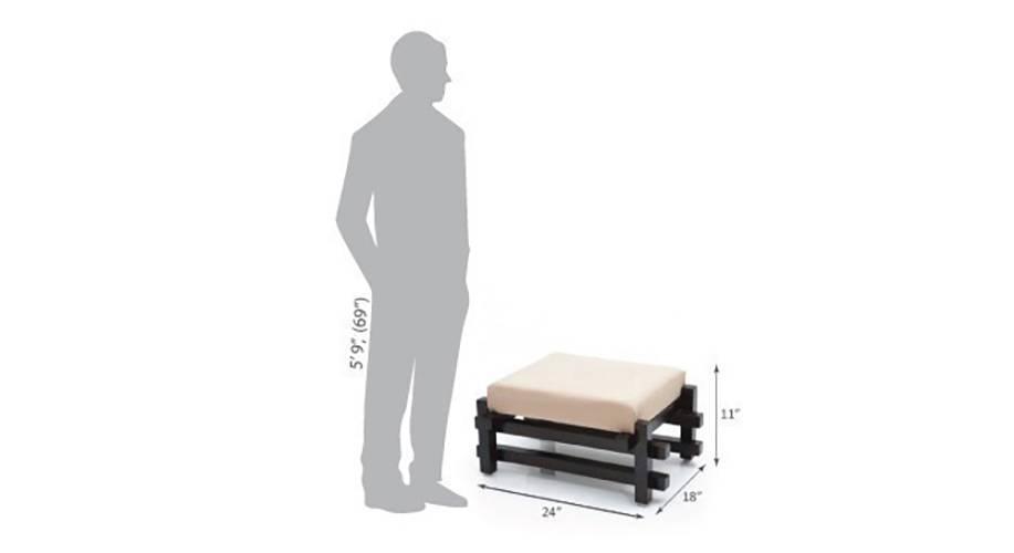 Perch foot stool mahogany finish img 5208 d 2  1