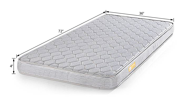 Essential Comfort Mattress (Single Mattress Type, 4 in Mattress Thickness (in Inches), 72 x 36 in Mattress Size) by Urban Ladder