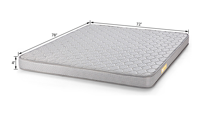 Essential Foam Mattress (King Mattress Type, 78 x 72 in (Standard) Mattress Size, 4 in Mattress Thickness (in Inches)) by Urban Ladder - Dimension Design 1 - 121851