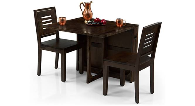 Danton 3-to-6 - Capra 2 Seater Folding Dining Table Set (Mahogany Finish) by Urban Ladder - Front View Design 1 - 123586