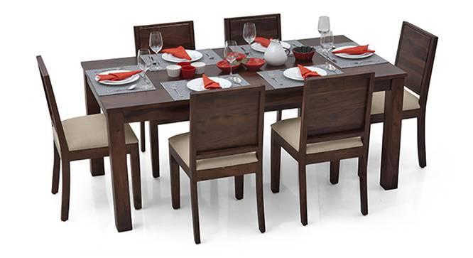 Arabia XL - Oribi 6 Seater Dining Set (Mahogany Finish, Wheat Brown) by Urban Ladder