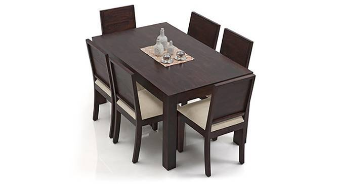 Arabia XL - Oribi 6 Seater Dining Set (Mahogany Finish, Wheat Brown) by Urban Ladder
